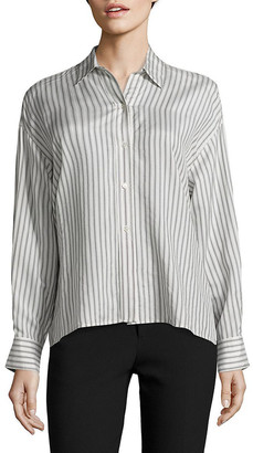Vince Cropped Silk Top