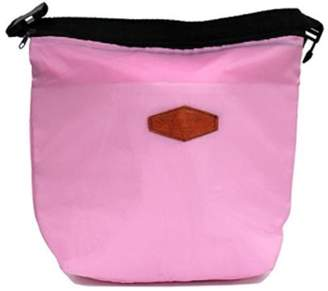 4batyam Fashion Portable Thermal Cooler Insulated Lunch Box Carry Tote Storage Picnic Bag- Pink