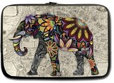 "Mango Street Tribal Floral Pattern Elephant And France Paris Map 13"" Inch Laptop Sleeve Custom Durable Case Carrying Bag for Apple Macbook pro, Air, Dell Inspiron, Vostro, Samsung, ASUS UL30, Toshiba Notebook Laptop Sleeve Fits All 13 inch Notebook Laptop(One Side)"
