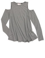 Hip Girl's Stripe Cold Shoulder Shirt