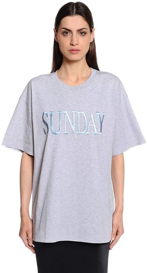 Alberta Ferretti Sunday Oversized Jersey T-Shirt