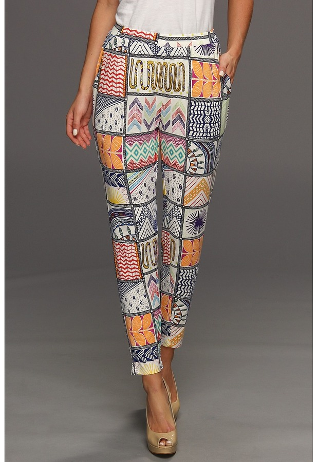 Mara Hoffman Quilts Modal Slouch Pant (Modal Quilts White) - Apparel