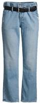RtA Dexter Buckle Belted Wide-Leg Paperbag Jeans