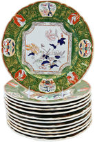 One Kings Lane Vintage Antique Ironstone Dinner Plates, S/12