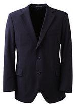 Lands' End Men's Big Dress Code Washable Wool Blend Suit Coat-True Navy
