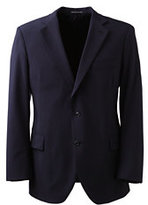 Lands' End Men's Long Dress Code Washable Wool Blend Suit Coat-True Navy