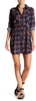 Love Stitch Double Gauze Plaid Shirt Dress