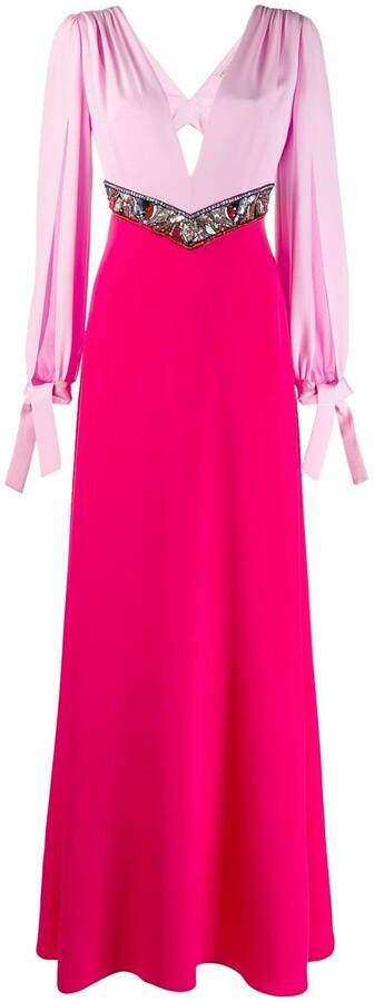 Emilio Pucci sequin embellished colour block dress
