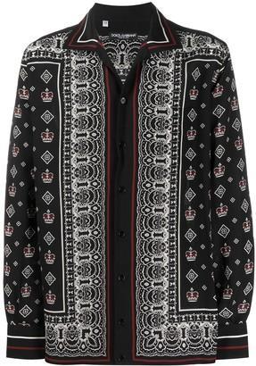 Dolce & Gabbana Bandana Print Buttoned Shirt
