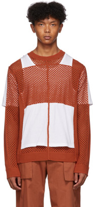 Craig Green Orange Crochet Jersey Sweater