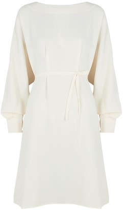 Mark Kenly Domino Tan Darla ivory cady dress