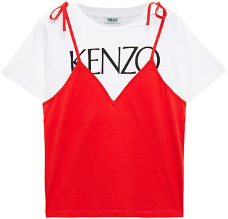 Kenzo Layered Printed Cotton-jersey T-shirt