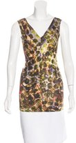 Alberta Ferretti Abstract Print Sleeveless Top w/ Tags