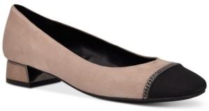Nude Shoe Black Cap Toe Shoe | Shop the