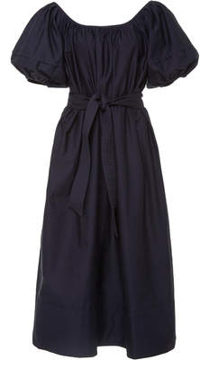 Co Belted Cotton-Jersey Midi Dress Size: M