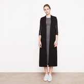 Maje Oversized cardigan with leather details