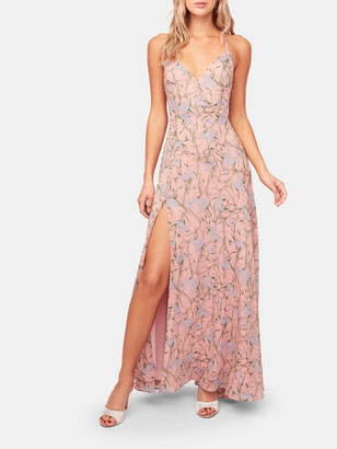 ASTR the Label Pandora V-Neck Floral Maxi Dress