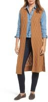 Halogen Women's Cable Stitch Long Sweater Vest