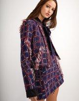 Cynthia Rowley Fringe Tweed Jacket