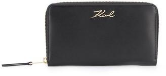 Karl Lagerfeld Paris K/Signature zip around wallet