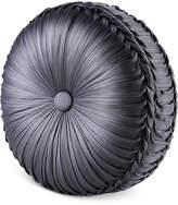 "J Queen New York Bohemia Graphite Tufted 15"" Round Decorative Pillow Bedding"