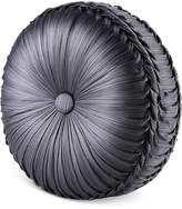 "J Queen New York Bohemia Graphite Tufted 15"" Round Decorative Pillow"