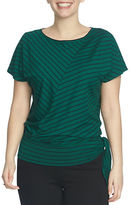 Chaus Striped Side Tie Top