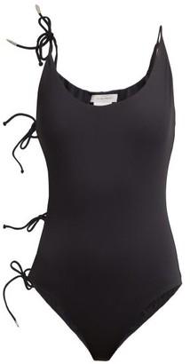 Marios Schwab On The Island By Cobra Multi-tie Stretch Swimsuit - Womens - Black