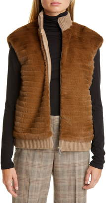 Lafayette 148 New York Larkin Genuine Mink Fur Vest