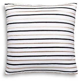 Kate Spade Embroidered Stripe Decorative Pillow 18 x 18