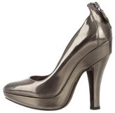 Burberry Metallic Platform Pumps