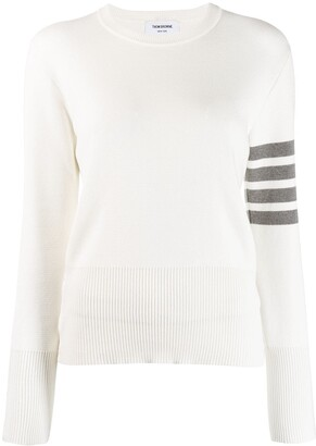 Thom Browne 4-Bar stripe crew-neck jumper