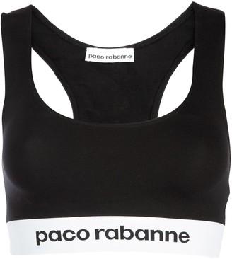 Paco Rabanne Logo Band Crop Top