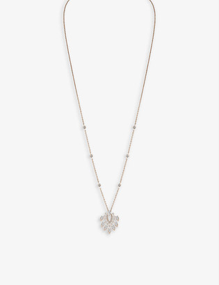 Messika Desert Bloom 18ct yellow-gold and 0.9ct diamond pendant necklace
