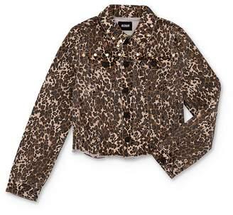 Hudson Girls' Leopard Print Denim Jacket - Big Kid