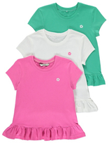 George 3 Pack Assorted Frill Tops