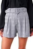 Sugar Lips Sugarlips Women's Pleated Plaid Shorts