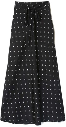 Lee Mathews Roxie Maxi Skirt in Dark Floral