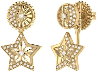 Lucky Star Stud Earrings In 14 Kt Yellow Gold Vermeil On Sterling Silver
