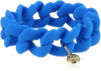 MARC BY MARC JACOBS Electric Blue Lemonade Haute Mess Rubber Turn Lock Stretch Bracelet