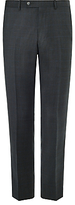 John Lewis Super 100s Wool Prince Of Wales Check Tailored Suit Trousers, Charcoal