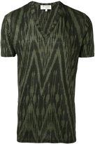 Etro zig zig T-shirt - men - Linen/Flax - S