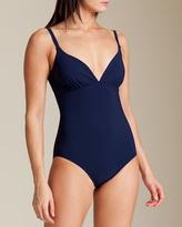 Karla Colletto Basic Molded V-Neck Swimsuit