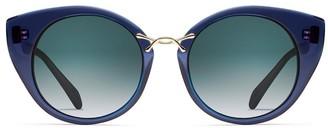 Oscar de la Renta X Morgenthal Frederics Twist 4 Sunglasses