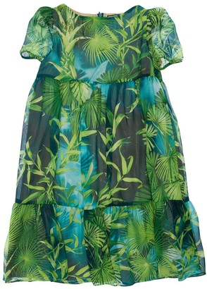 Versace Jungle Printed Silk Georgette Dress