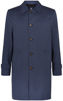 Aquascutum Langden Single Breasted Overcoat, Blue