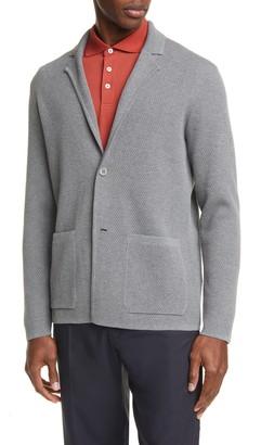 Ermenegildo Zegna Trim Fit Knit Cotton Sport Coat