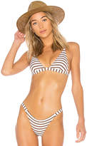 Vitamin A Moss Bikini Top in Brown. - size L (also in M,S,XS)