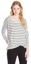 Splendid Women's Kenmare Double Knit Stripe Tunic Top