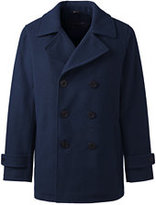 Lands' End Men's Wool Peacoat-Black